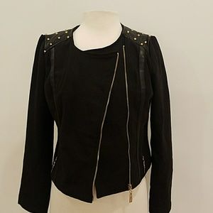 Wool and Leather blend Stylish jacket